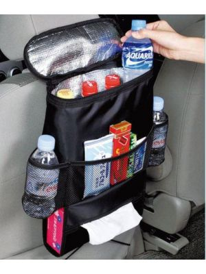 Kabalo Car Seat Organiser Tidy With Cool Insulated Cooler Bag Tissue Drinks H...