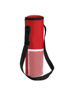 REDWOOD Insulated Bottle Cool Bag with Strap - Red