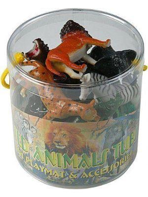 Plastic Zoo Animals Model Figure Kids Toys Indoor Outdoor Play