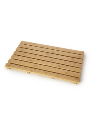 Anti-slip duck board natural wood wooden bathroom rectangular bath shower mat