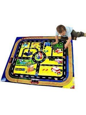 Giant Kids City Playmat Fun Town Cars Play Road Toy Mat NEW