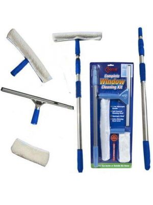 4 Pieces Telescopic Window Cleaning Kit - Helping Hand For Cleaning Works (Pa...
