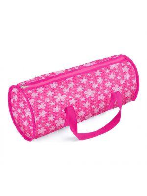 Unibos Dolls Travel Cot Bed Crib & Bedding with Storage Bag Dot Design Brand New
