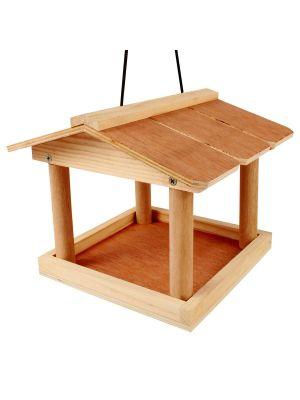 Wooden Tree Hanging Wild Bird Feeding Station Table Bracket