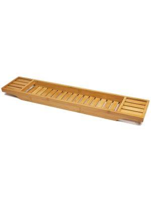 Wooden Bath Caddy Tray Bamboo Bathtub Organizer Tablet Holder Tidy Clean Tray UK