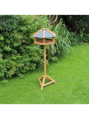 Heavy Duty Hex Bird Table Slate Roof 59 x 31 x 50.5 cm