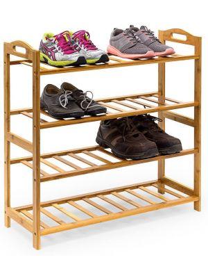 Bamboo Shoe Footwear Rack Stand Shelf Unit Organiser Wooden Storage Shelves