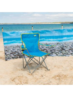 Yello Outdoor And Camping Folding Beach Fishing Picnic Garden Festival Chair Blue