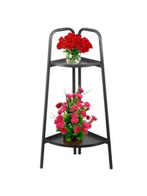 X Large 2Tier Large Metal Corner Planter Flower Pot Garden Rack Shelf Decoration
