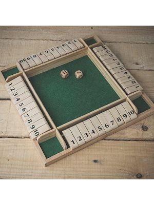 Tobar 4 Player Shut The Box Board Game