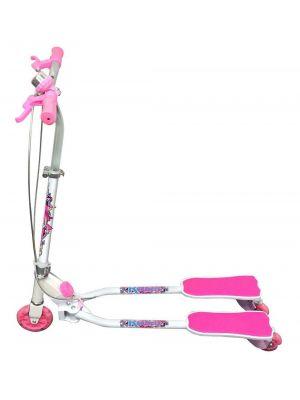 Ozbozz Scissor Scooter (White/Pink)
