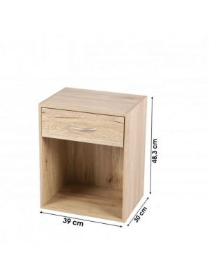 BEDSIDE FURNITURE 1 DRAWER 1 COMPARTMENT COMPARTIMENT 39X31XH48CM