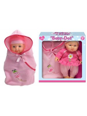 Vinyl Baby Doll With Carry Bag Pretend Play Toy