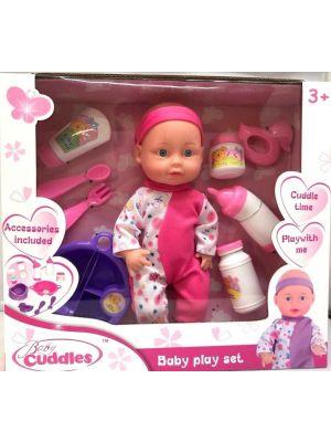 Unibos Lifelike Baby Doll Toy Soft Doll with Feeding Accessories