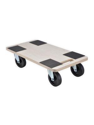 400kg Heavy Duty Anti Slip Hand Dolly Trolley Cart Furniture Moving Wooden Platform Mover